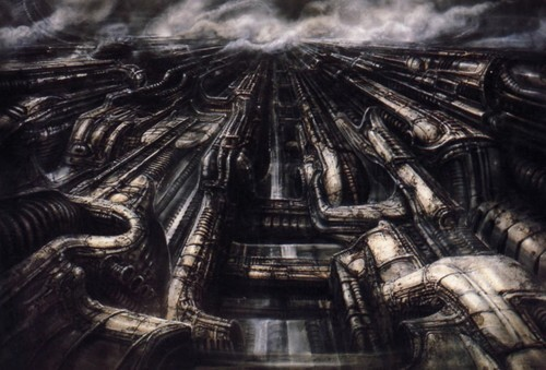 Biomechanical Landscape by H.R. Giger